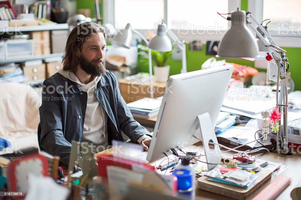 Modern and trendy people working on startup stock photo