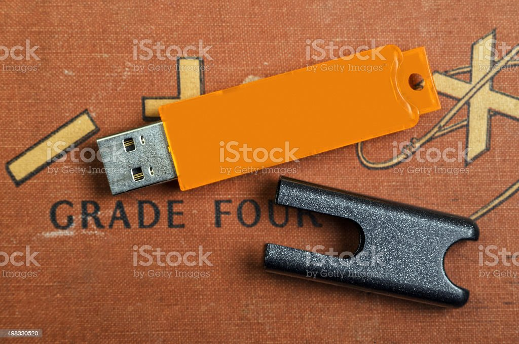 Modern and Vintage Technology stock photo