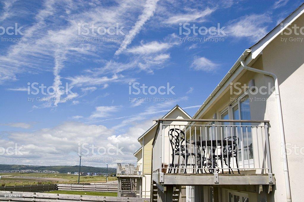 Modern apartment balcony royalty-free stock photo