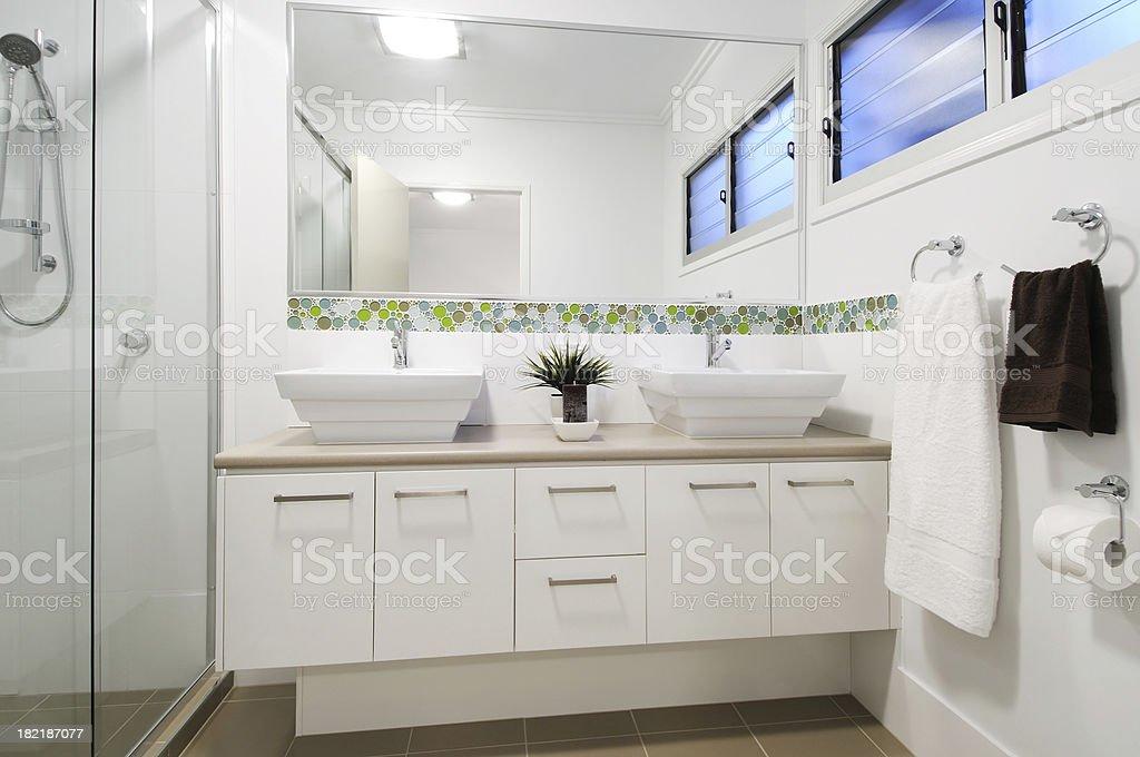 Modern apartment bathroom royalty-free stock photo