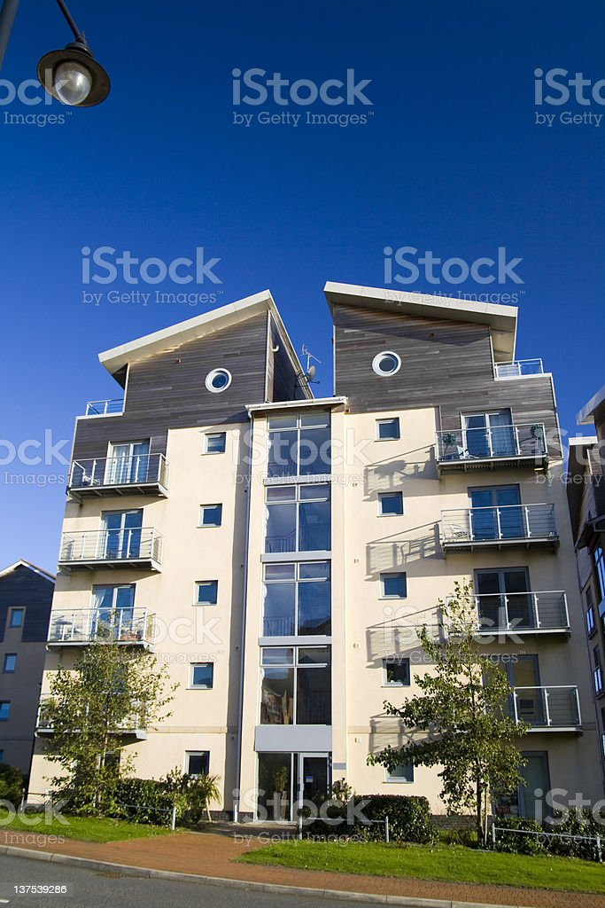 Modern apartment block royalty-free stock photo