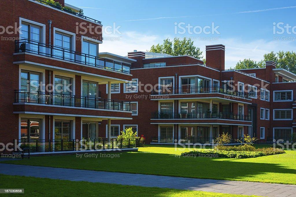 Modern Apartment Blocks royalty-free stock photo