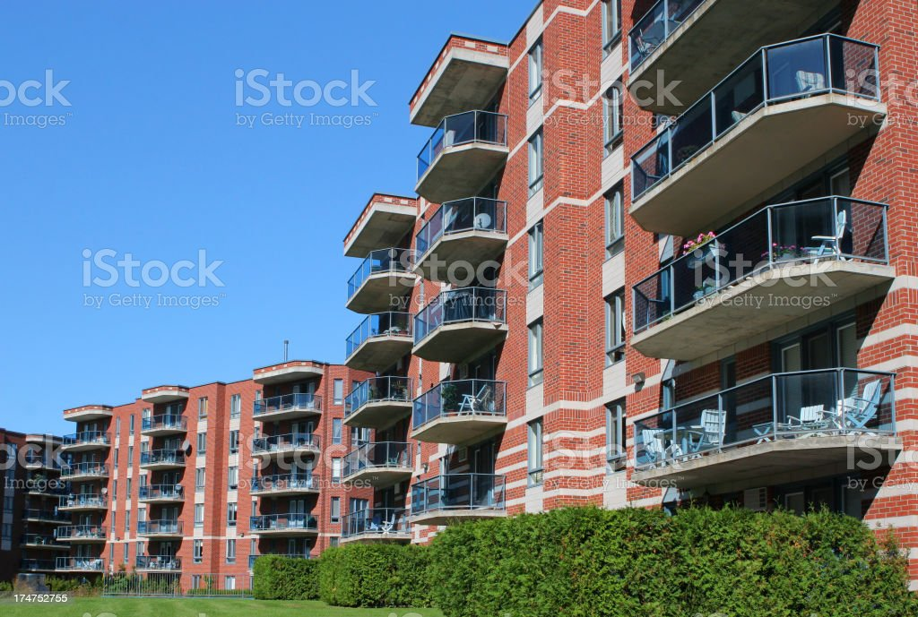Modern Apartment Building Exteriors royalty-free stock photo