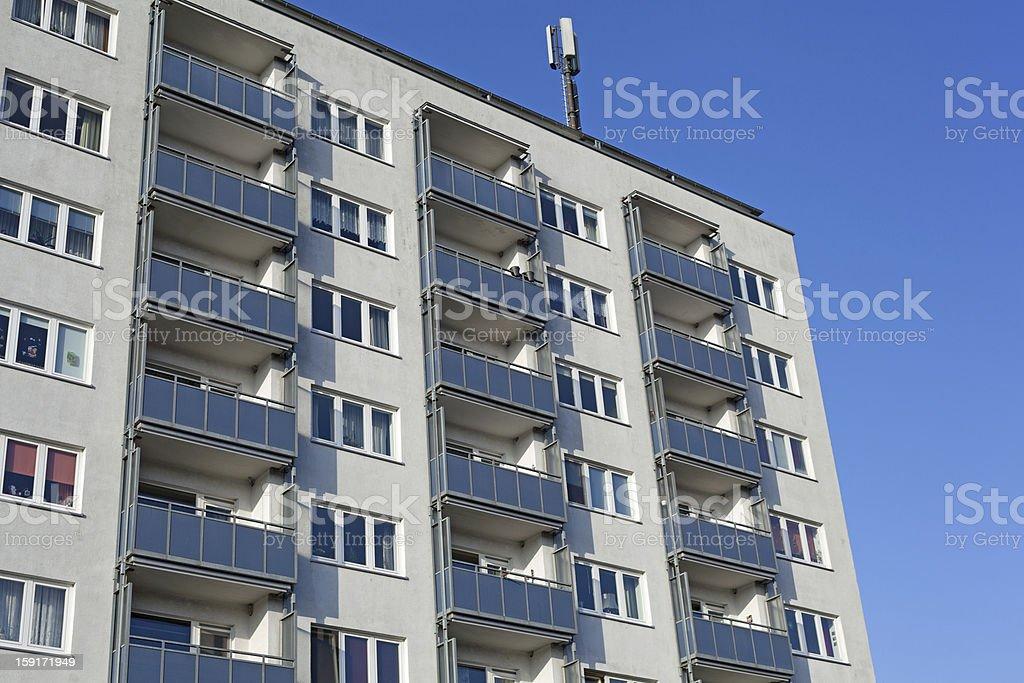 Modern apartment building in Kiel, Germany royalty-free stock photo