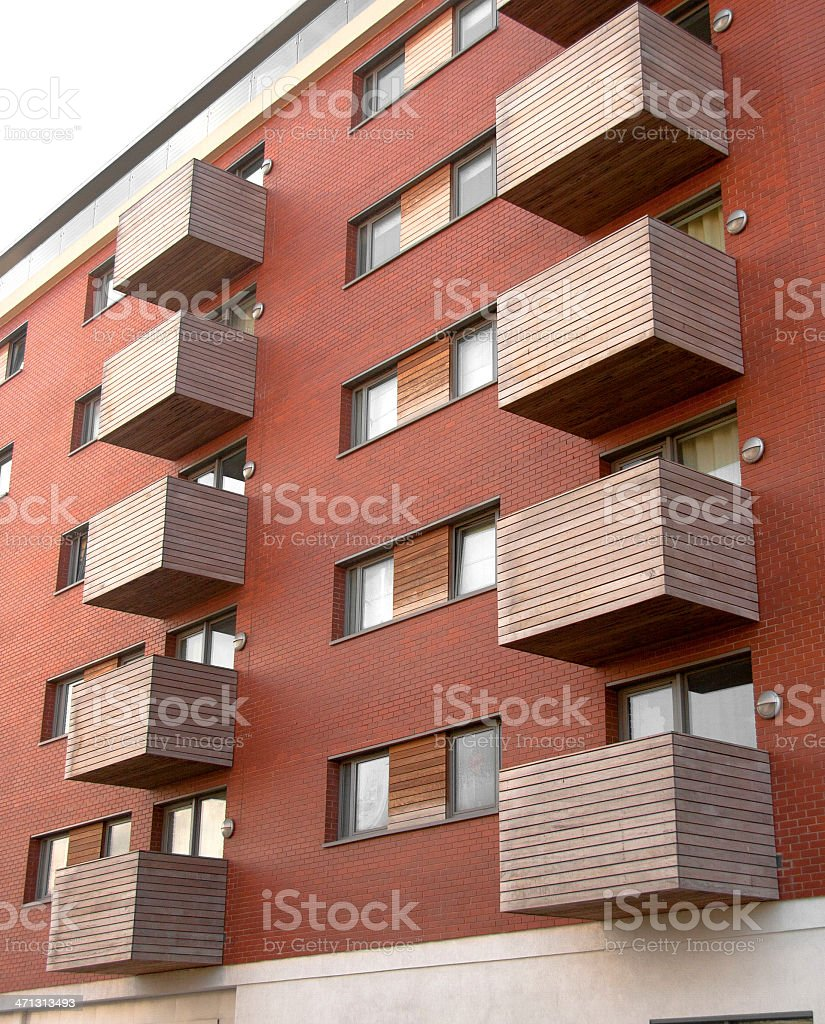 Modern apartment building royalty-free stock photo
