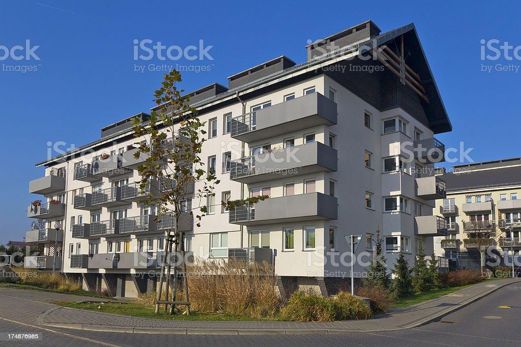 Modern apartment buildinga royalty-free stock photo