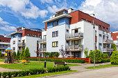 Modern apartment buildings, Warsaw, Poland