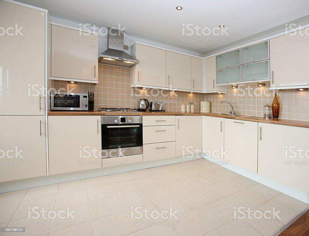 Modern Apartment Kitchen Interior royalty-free stock photo