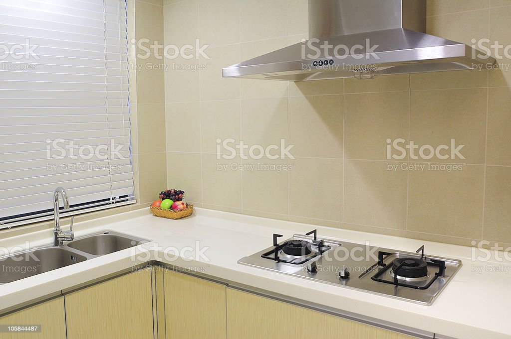 Modern apartment kitchen royalty-free stock photo