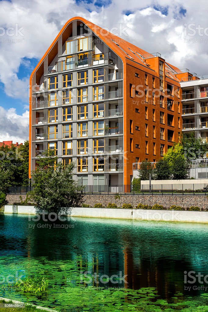 Modern apartments architecture stock photo