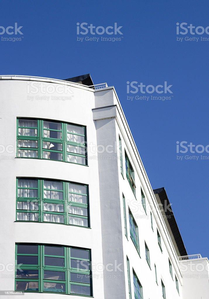modern apartments art deco style windows stock photo