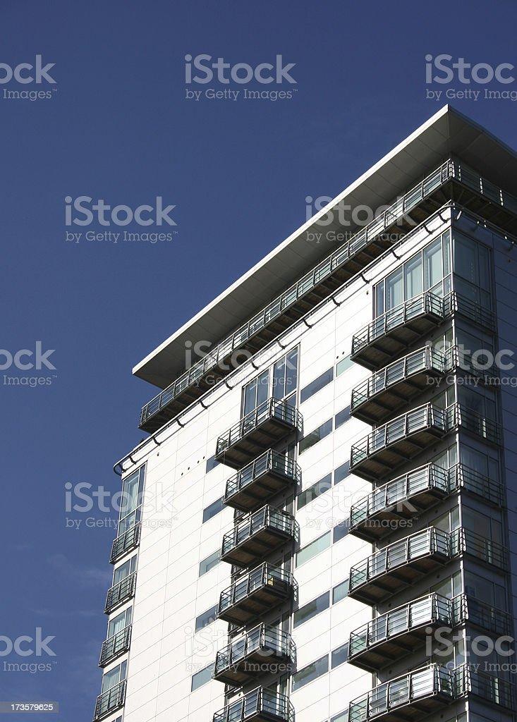 Modern Apartments & balconies royalty-free stock photo