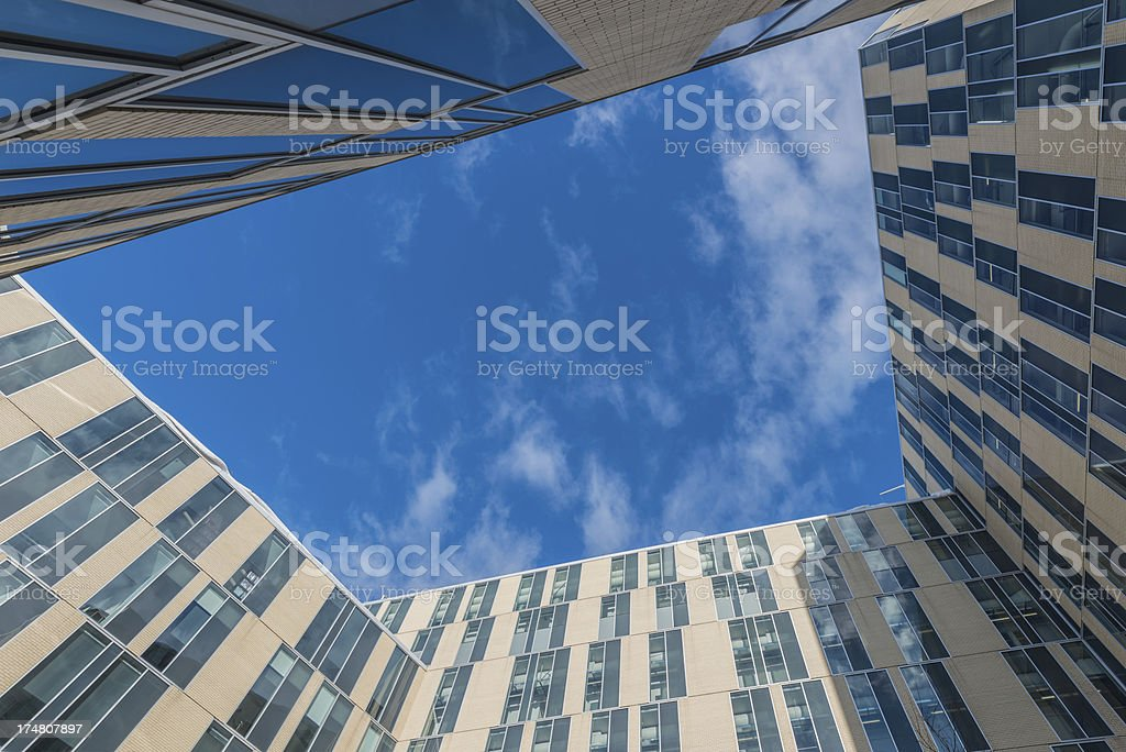 Modern apartments building royalty-free stock photo