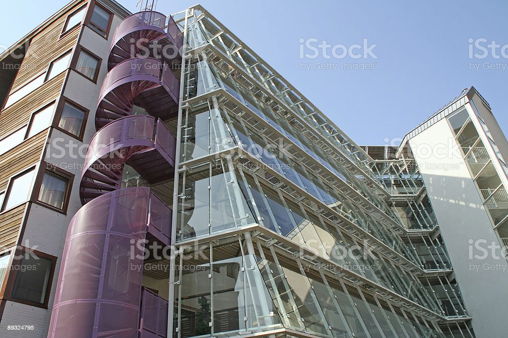 Modern apartments building stock photo