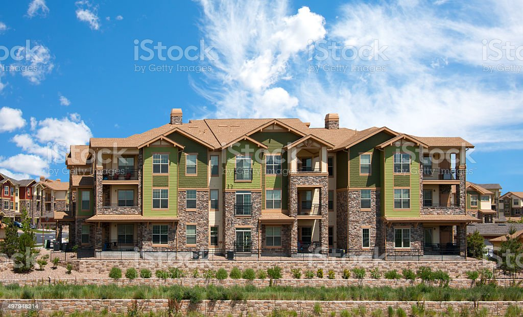 Modern Apartments, Condos, Town Houses stock photo