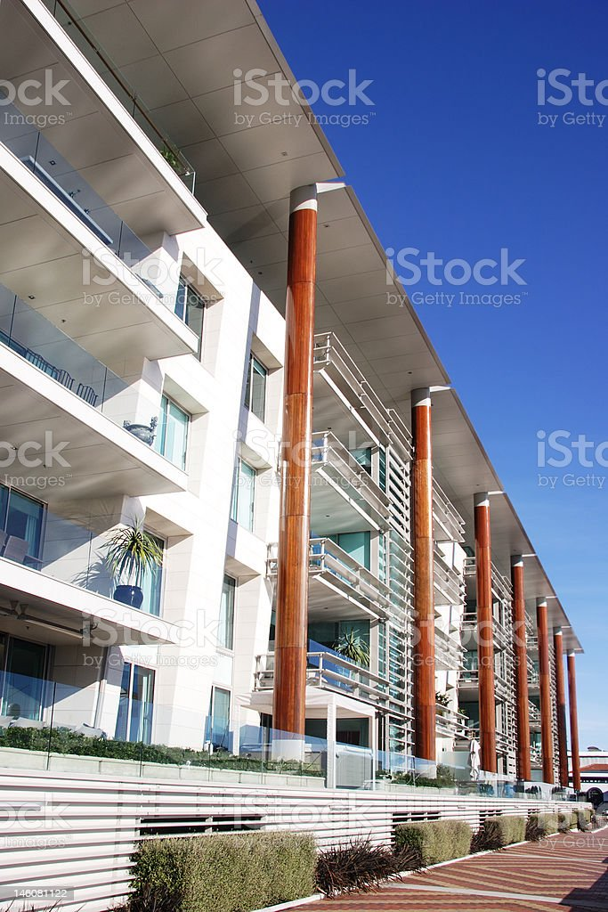 Modern apartments in Auckland royalty-free stock photo