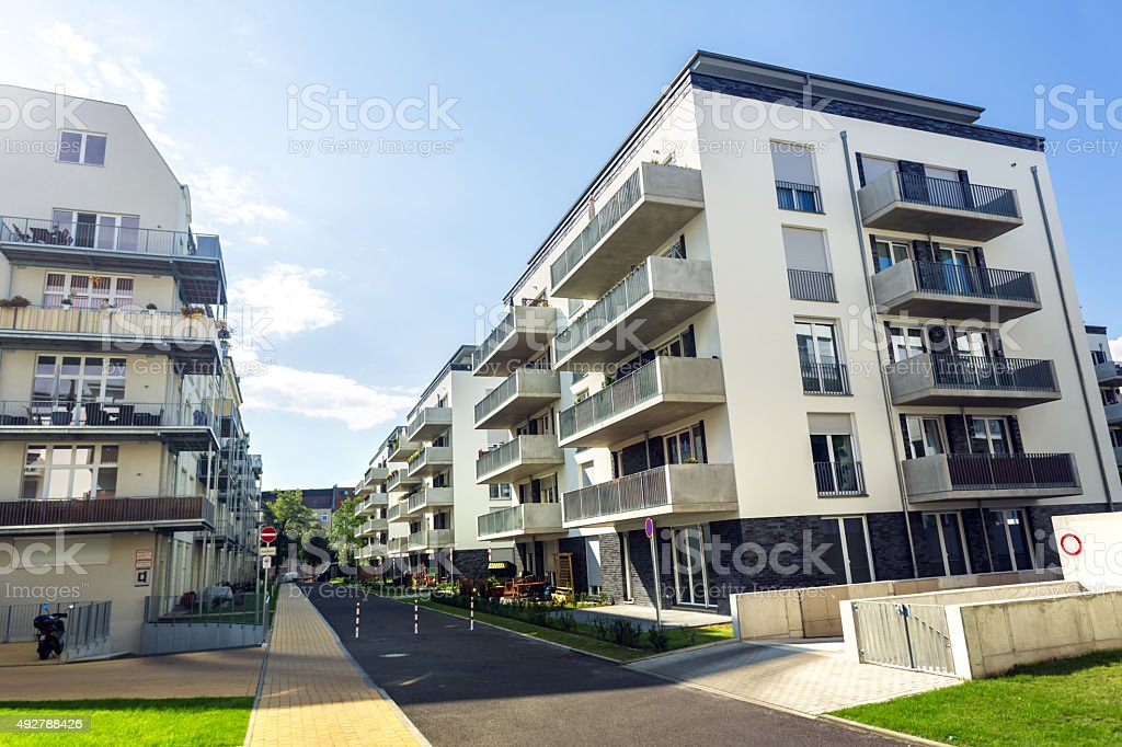 Modern Apartments in Berlin stock photo