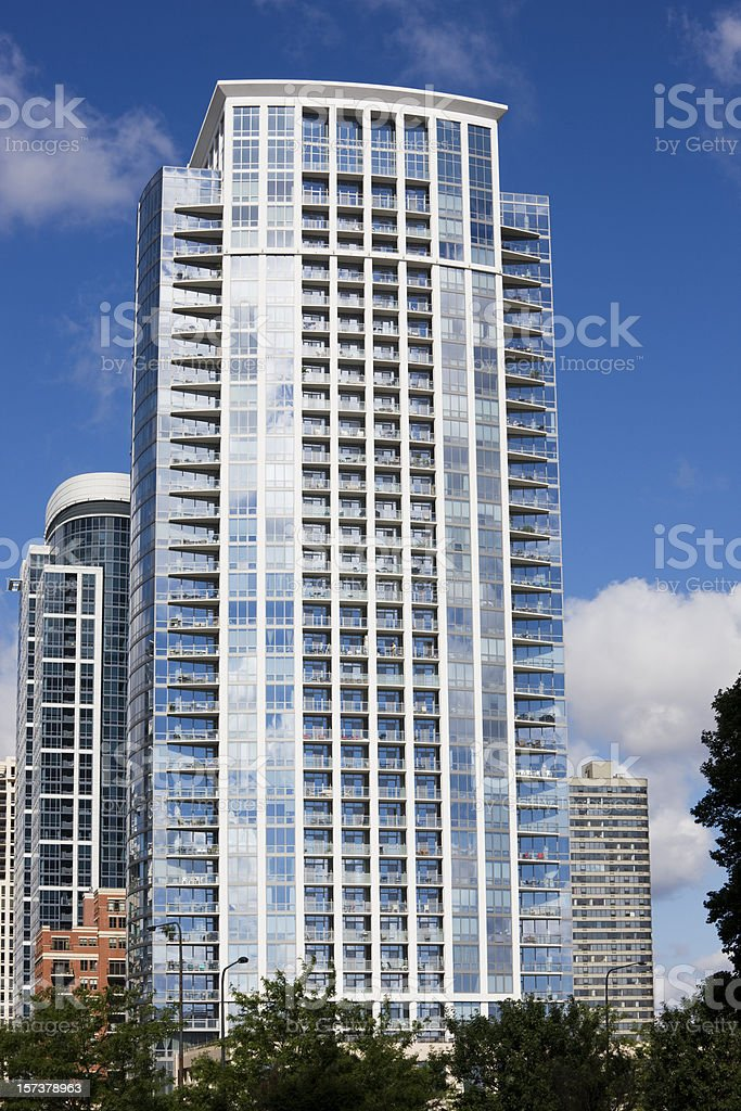 Modern Apartments in Chicago royalty-free stock photo
