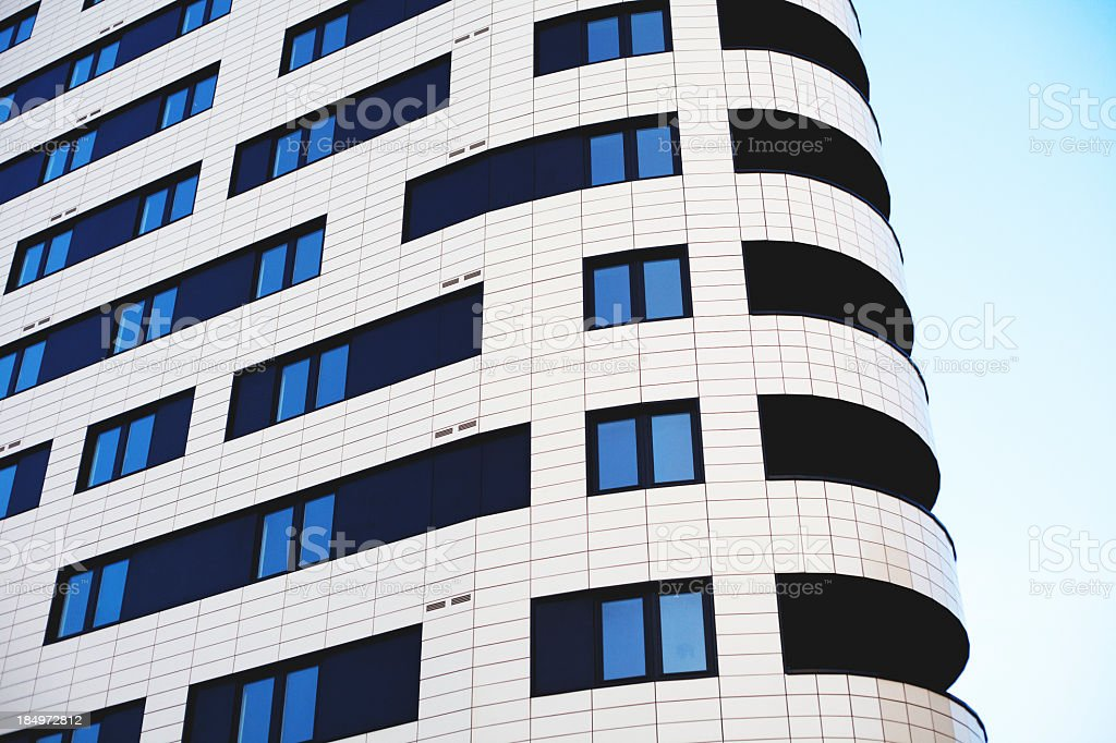 modern apartments in Dalston royalty-free stock photo
