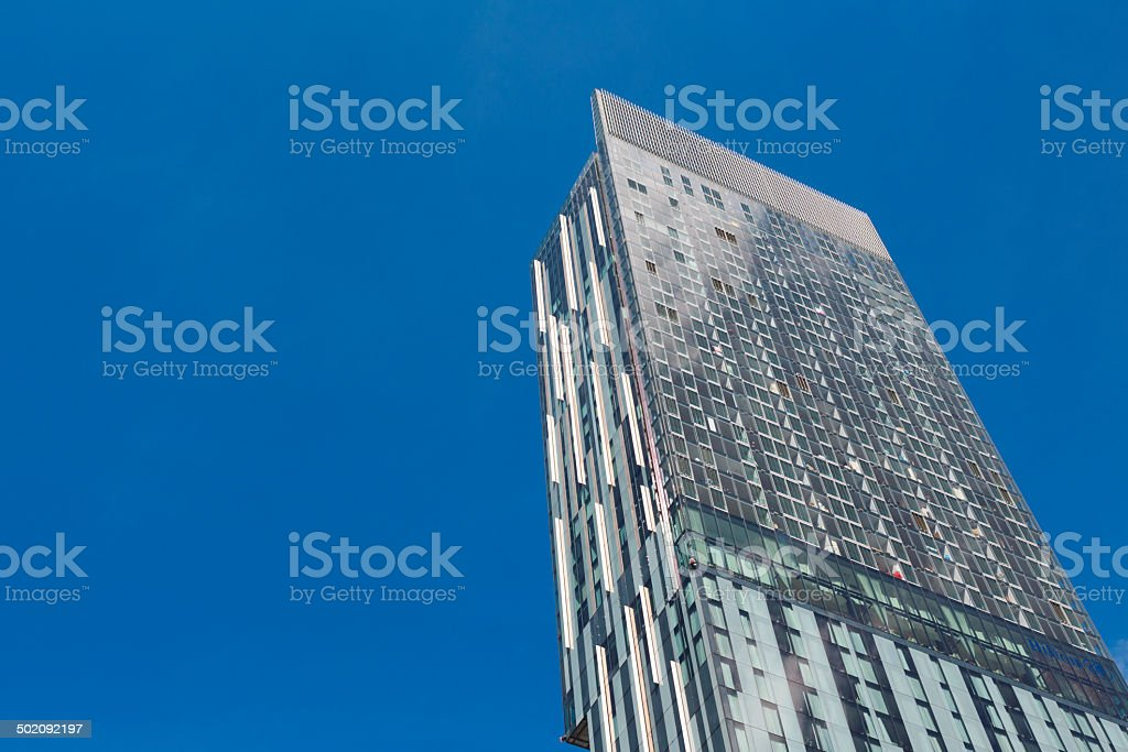 Modern apartments in the centre of Manchester royalty-free stock photo