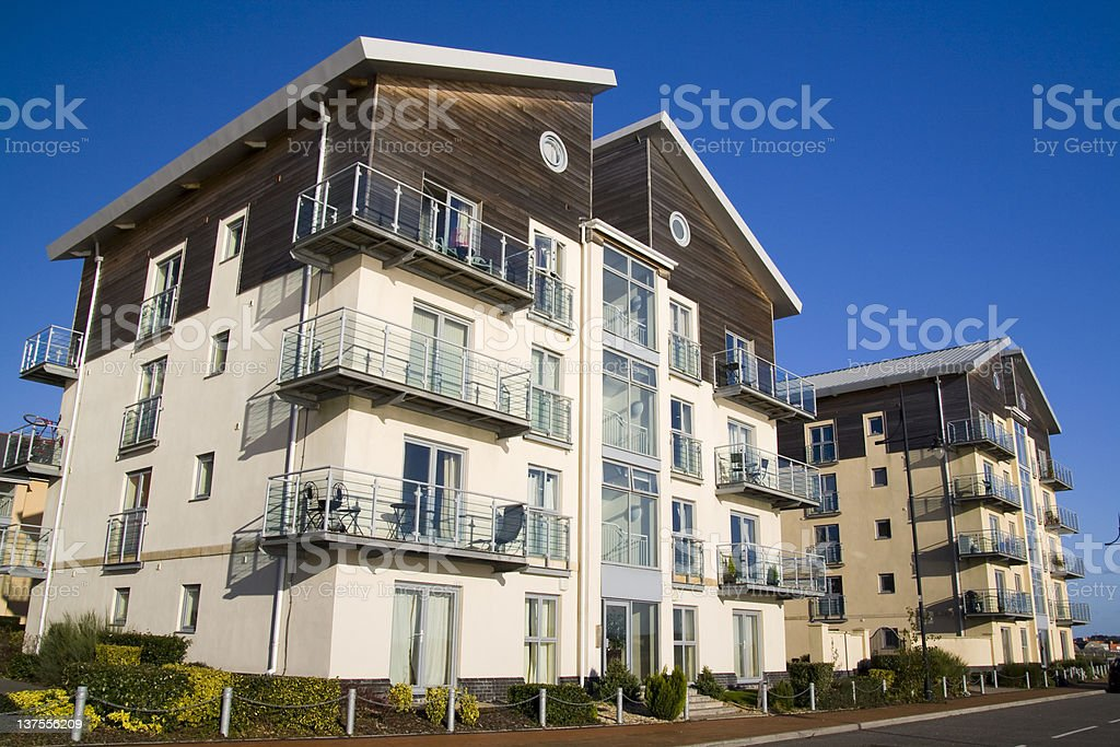 Modern apartments royalty-free stock photo
