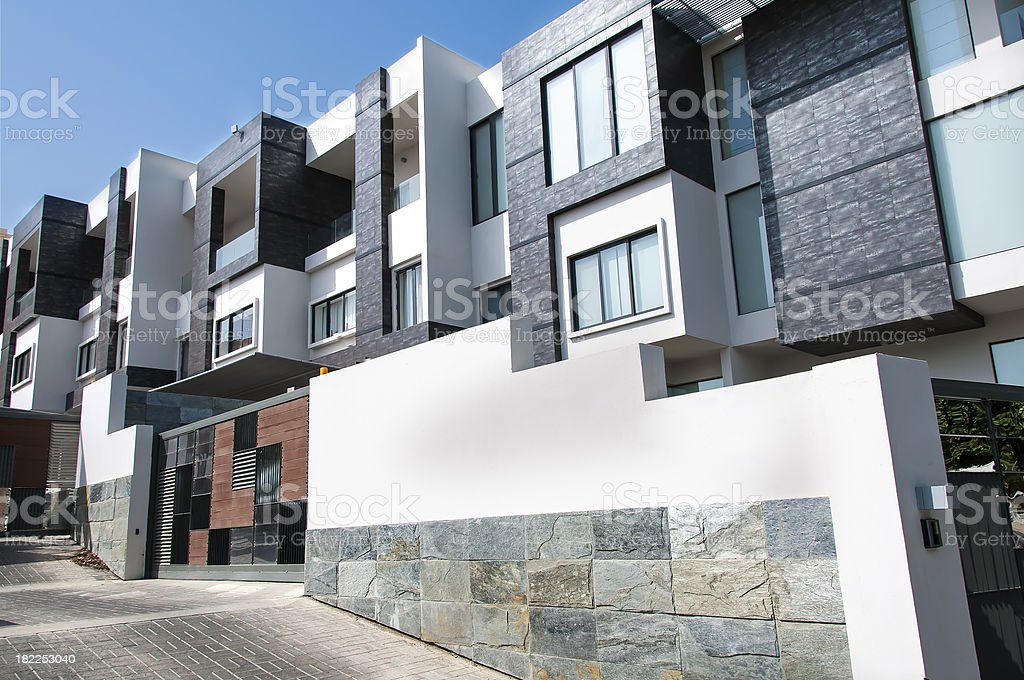 Modern Apartments stock photo