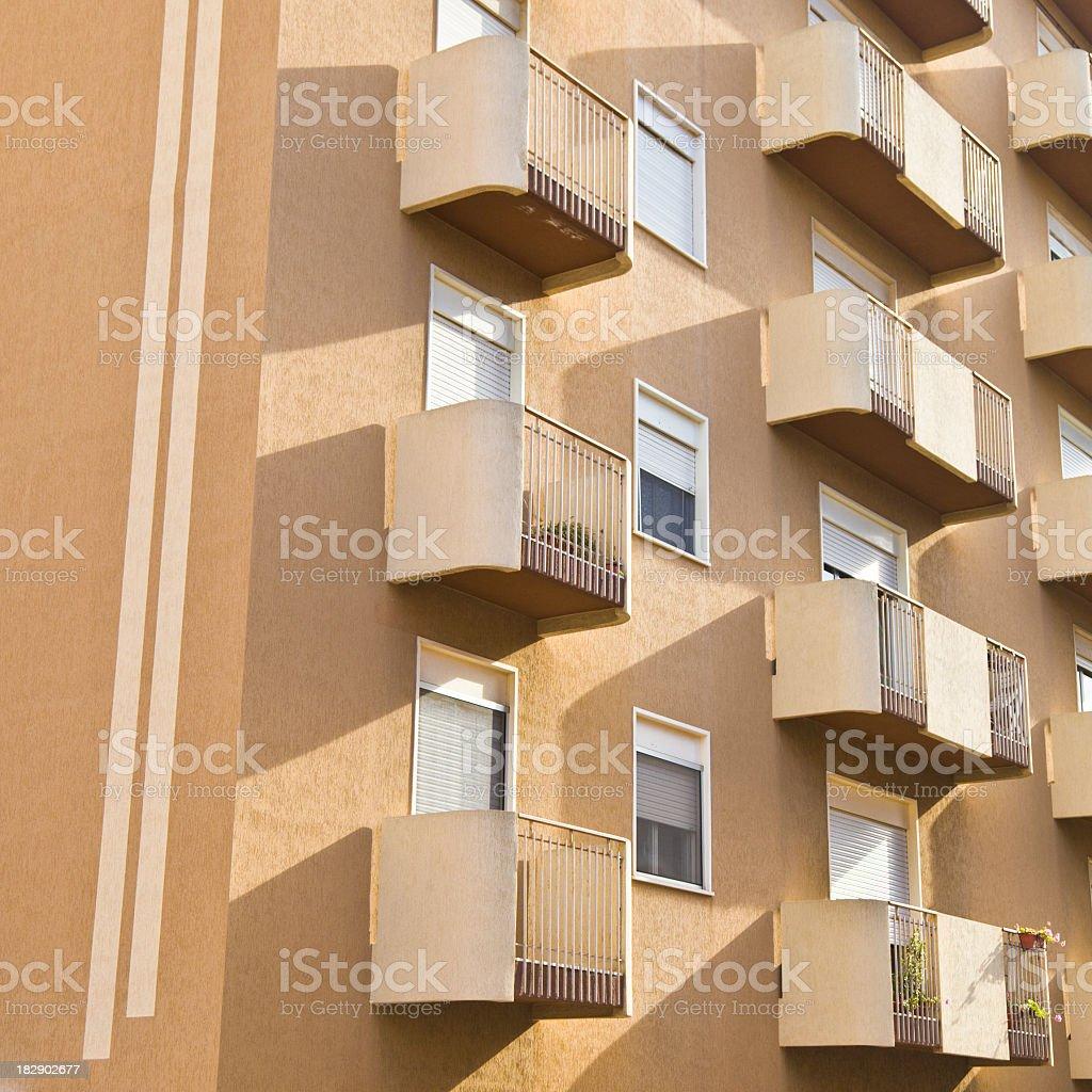 Modern apartments stock photo