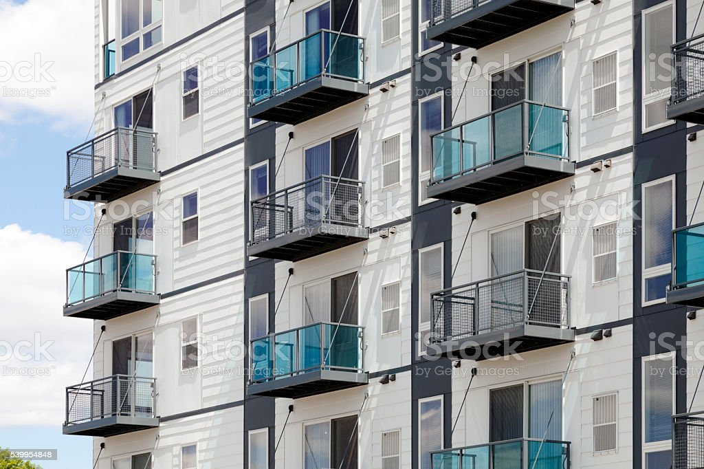 Modern appartments stock photo