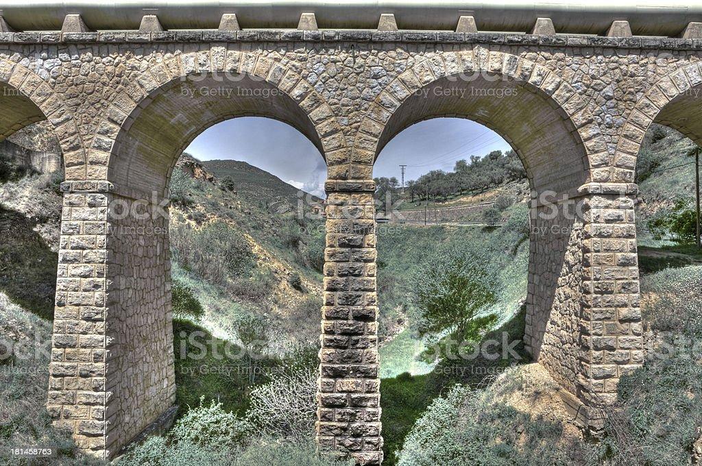Modern aqueduct royalty-free stock photo