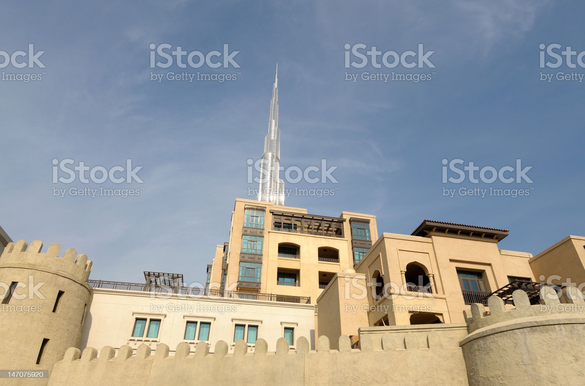 Modern Arabic Architecture, Dubai royalty-free stock photo