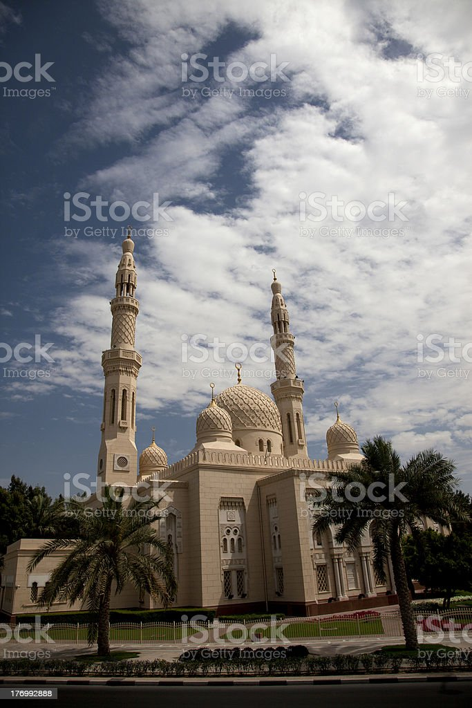 Modern arabic mosque at Dubai of UAE royalty-free stock photo