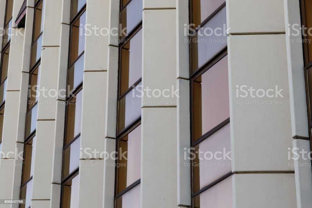 modern architectural exterior detail stock photo