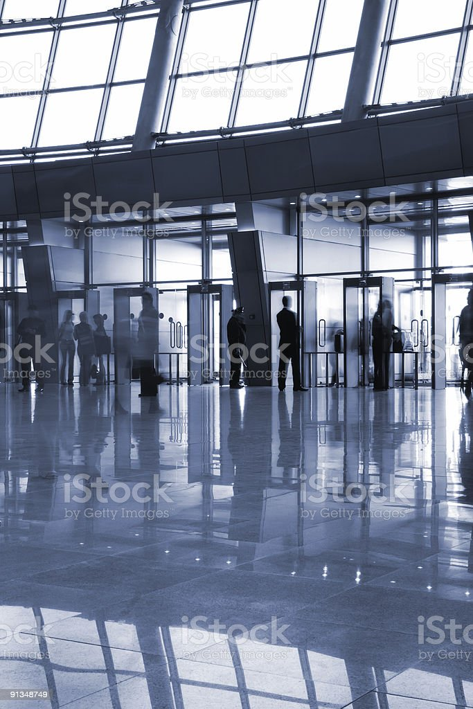 Modern architectural interior royalty-free stock photo
