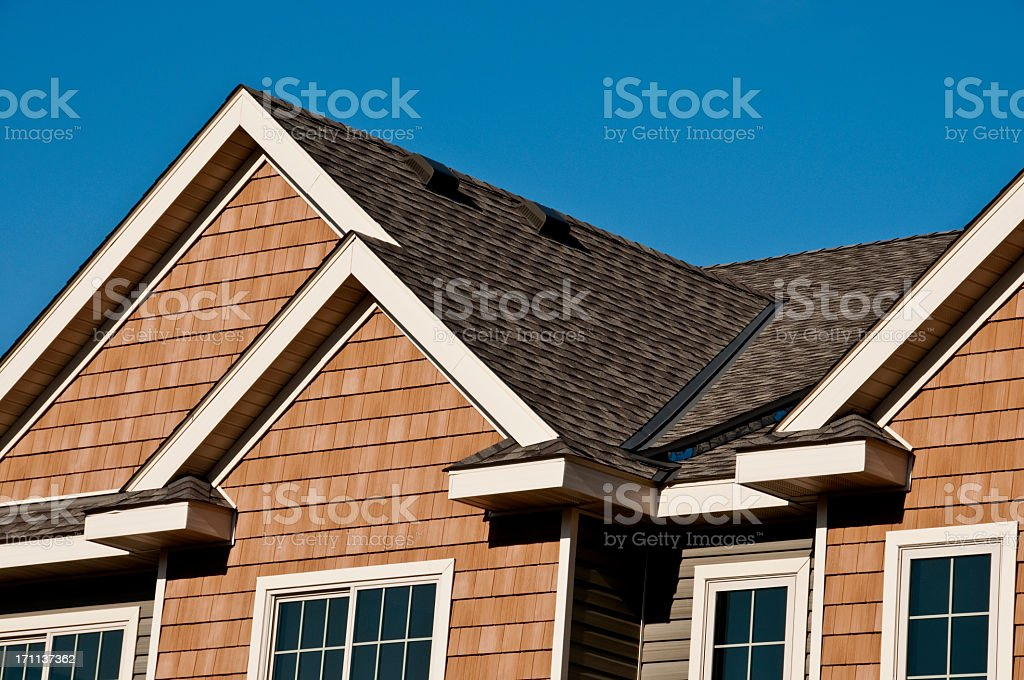 Modern architectural roofing detail stock photo
