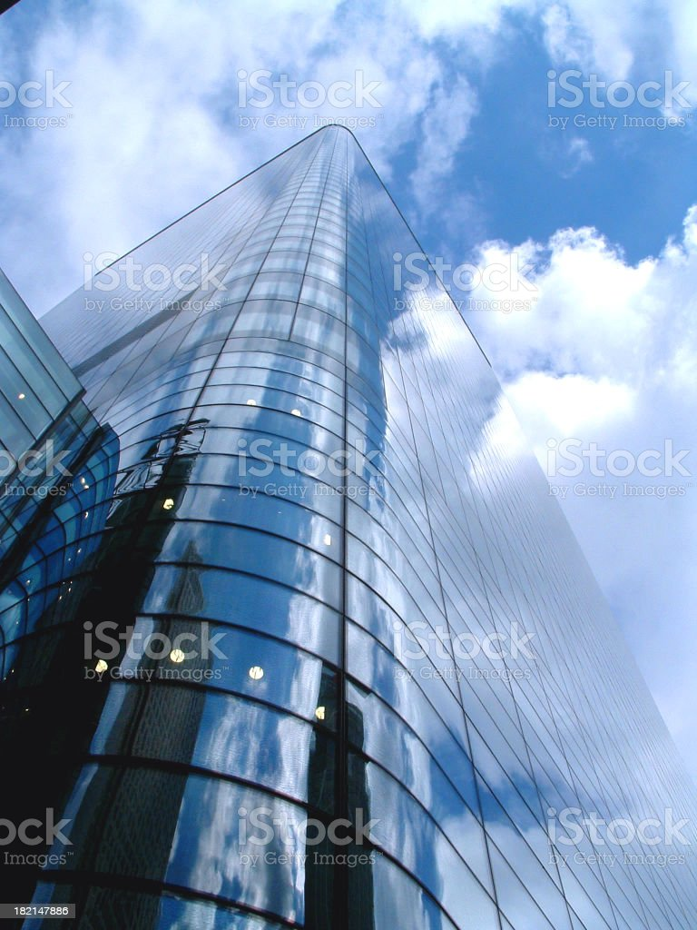 Modern architectural skyscraper in Docklands, London royalty-free stock photo