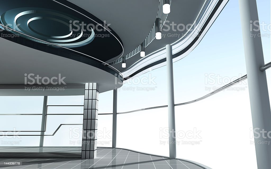 Modern Architecture 3d render royalty-free stock photo