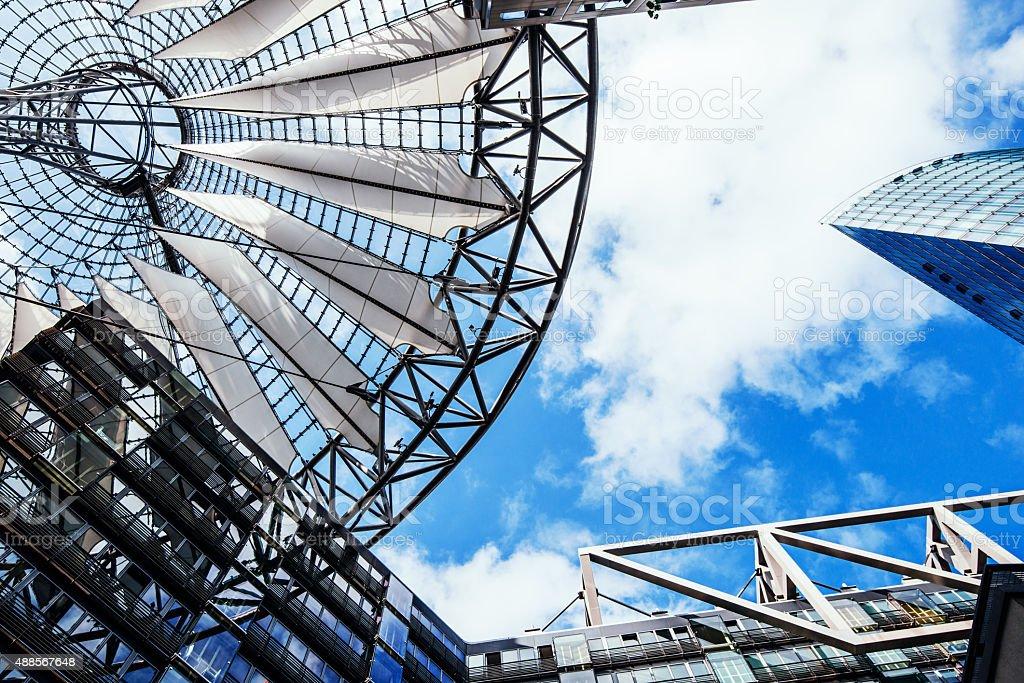 Modern architecture at Potsdamer Platz in Berlin downtown district stock photo