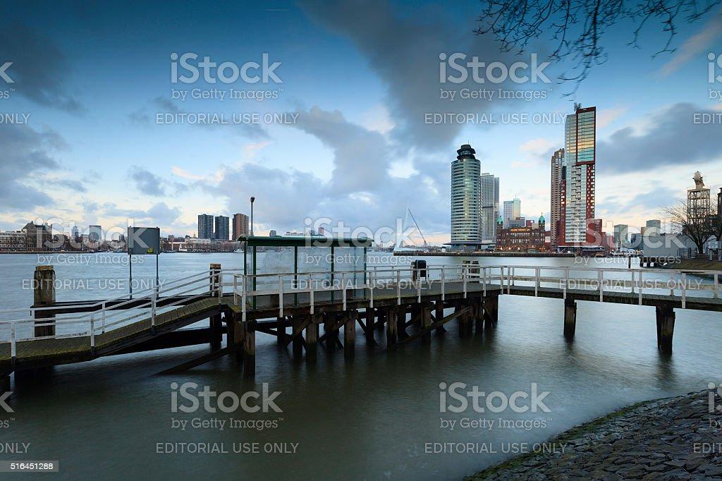 modern architecture at Rotterdam's Kop van Zuid stock photo