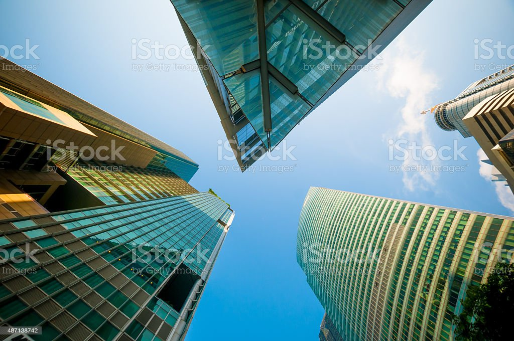 Modern architecture background stock photo