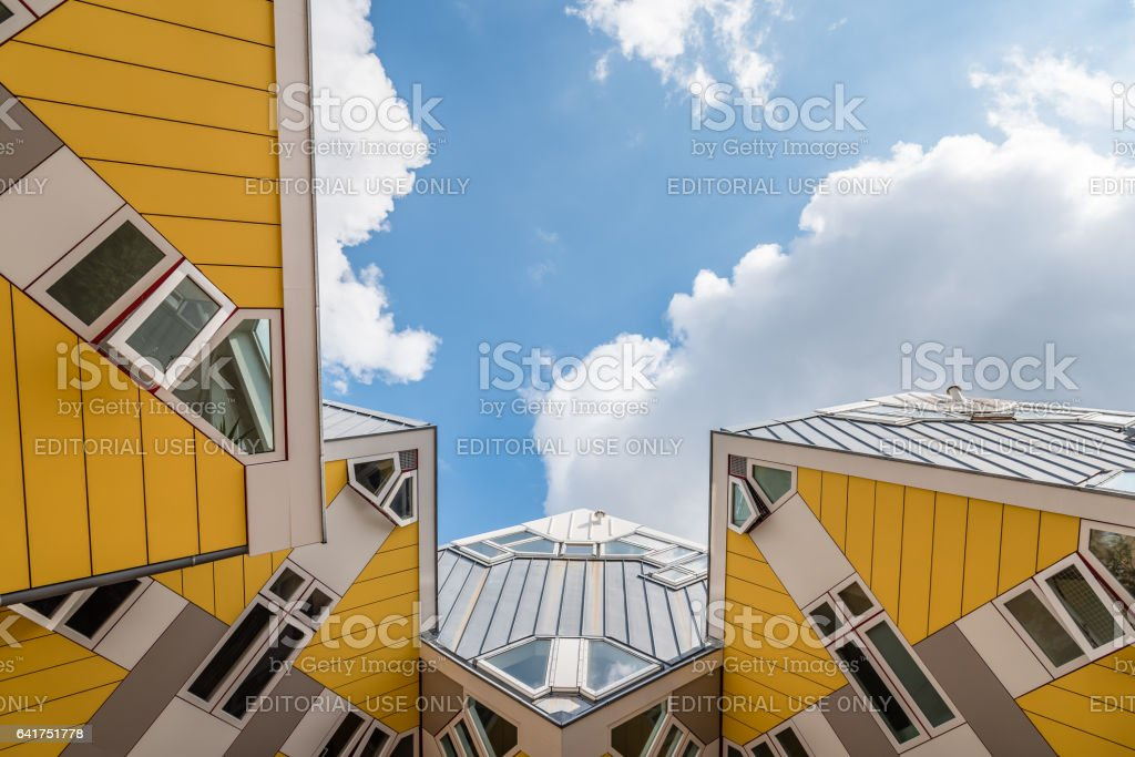 Modern architecture building in Rotterdam stock photo