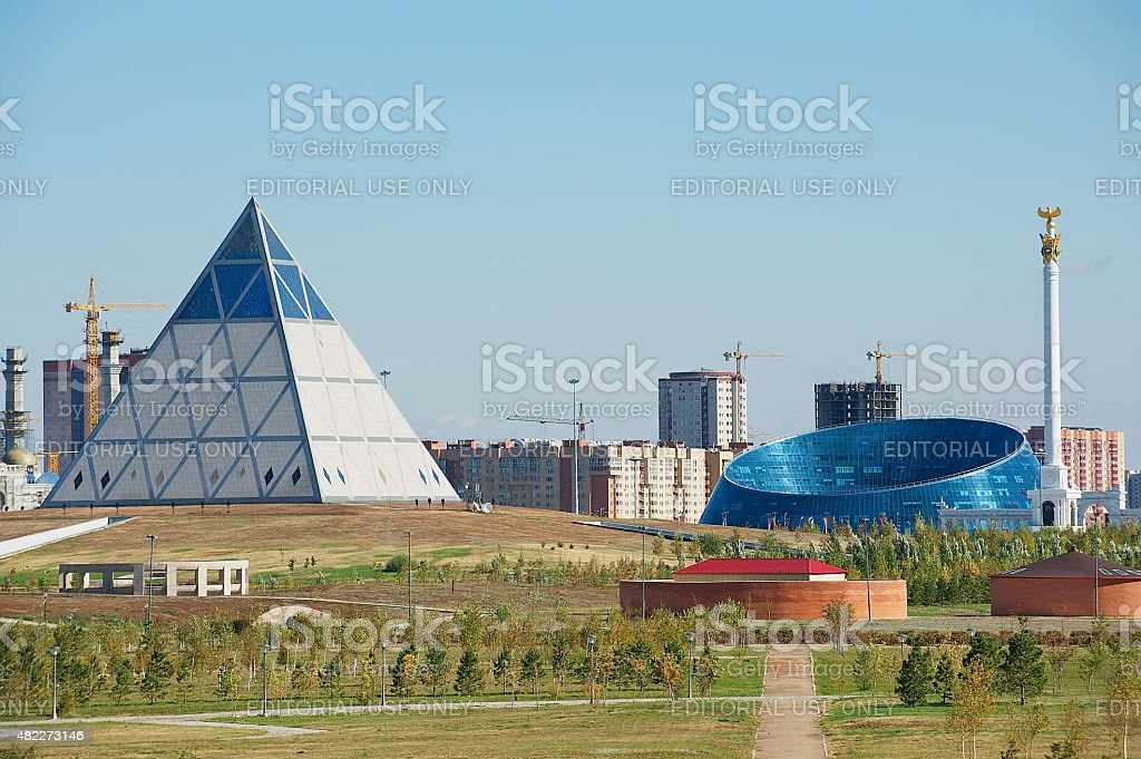 Modern architecture buildings in Astana, Kazakhstan. stock photo