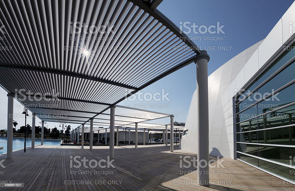 Modern architecture, Convention center in Mersin, Turkey royalty-free stock photo