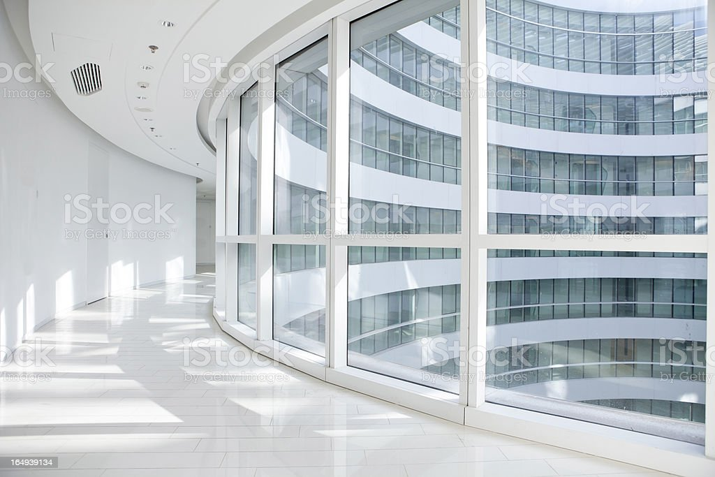 modern architecture corridor stock photo