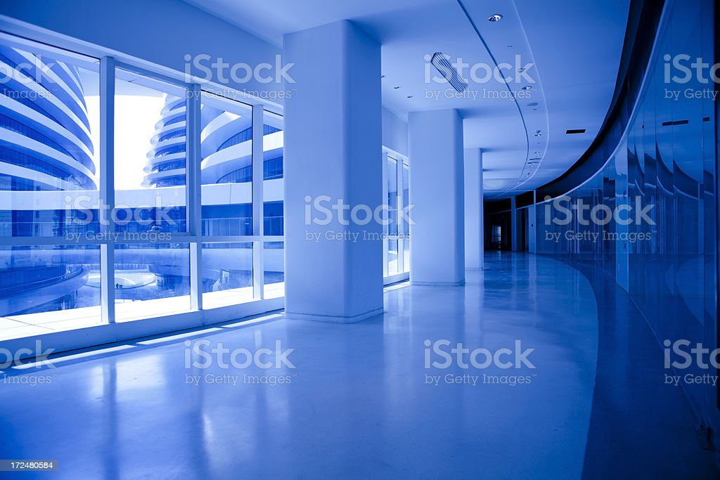modern architecture corridor royalty-free stock photo