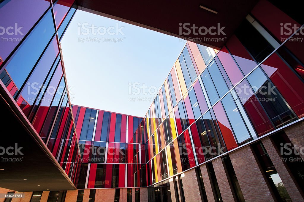 Modern architecture courtyard royalty-free stock photo