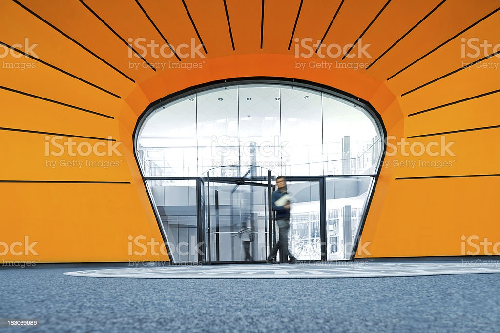 modern architecture entrance royalty-free stock photo
