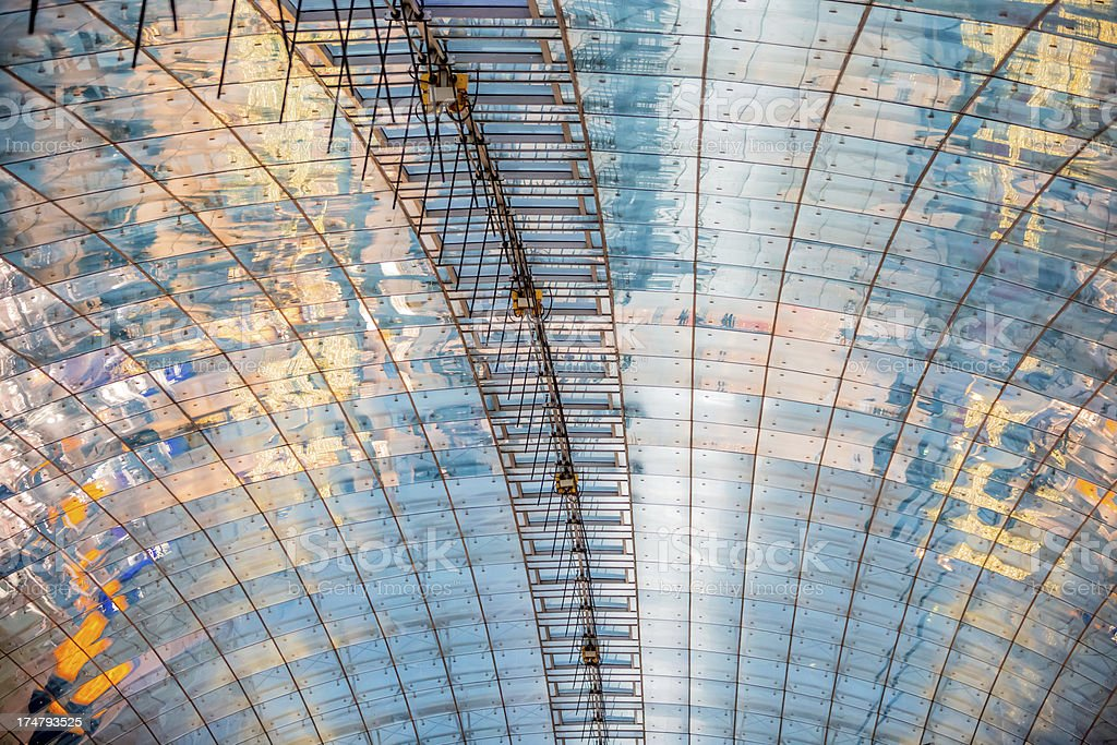 Modern Architecture Glass Roof royalty-free stock photo