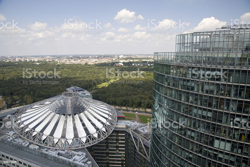modern architecture in berlin from the top royalty-free stock photo