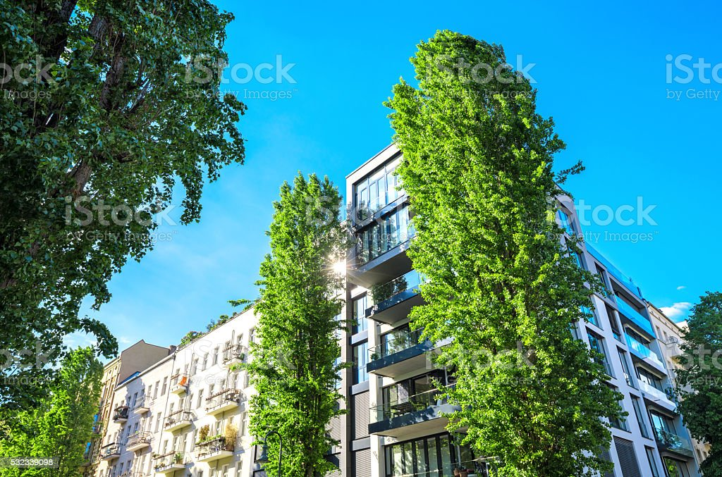 Modern Architecture in Berlin, Germany stock photo