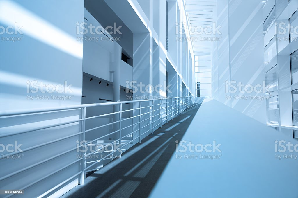 Modern architecture in blue colors royalty-free stock photo